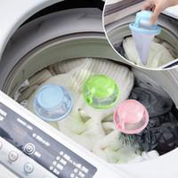 ingrosso sacchetti per lavanderia-Home Floating Lint Hair Catcher Mesh Pouch Lavatrice Sacchetto filtro lavanderia 2019 Banheiro bagno galleggiante pet pelliccia catcher