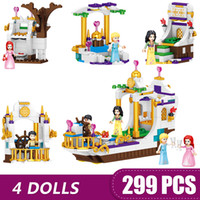 Wholesale diy toys for boys for sale - Group buy 299PCS Small Building Blocks Toys Compatible with ing Princess Prince In Royal Cruise Ship Gift for girls boys children DIY