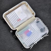 Wholesale zip bags for clothes resale online - Matte Clear case Plastic Ziplock Storage Bags Self Seal Reusable Zip Lock Package For Clothes Underwear Travel outdoor Packing Props FFA2649