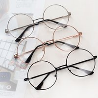 óculos transparentes de grandes dimensões venda por atacado-Moda Vintage Metal Frame óculos com lentes claras lerdo do totó Óculos Óculos Oversized rodada círculo do olho óculos de armação