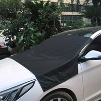 Wholesale frosted sticker resale online - 210 cm Magnetic Car Truck Windshield Windscreen Cover Sun Snow Ice Frost Protector Sticker Supplies Black Silver