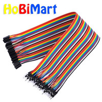 Wholesale dupont cables jumper wires resale online - Freeshipping cm40pin DuPont cable line Jumper wire female to male jumper cable wires dupont line p Connector pcb Breadboard D068
