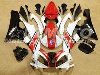 kits de carenagem r6 venda por atacado-Kits de carenagem completa de ABS de qualidade OEM aptos para YAMAHA YZF-R6 06-07 YZF600 2006 2007 R6 carroçaria definida personalizado branco vermelho