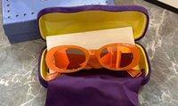 Wholesale slimming glasses for sale - Group buy Orange Mirror Oval Slim Sunglasses Sun Glasses Unisex Designer Sunglasses New with box