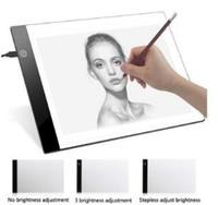 kostenlose grafiktablette großhandel-2019 A4 Digitale USB Zeichnung Tablet LED Grafiktabletts Light Box Tracing Copy Board Elektronische Kunst Schreiben Malerei Tisch Pad DHL geben