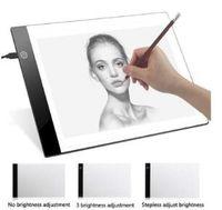 таблица записи оптовых-2019 A4 цифровой USB планшет для рисования из светодиодов графические планшеты световой короб отслеживания копирование электронное искусство письма живопись настольный коврик DHL бесплатно