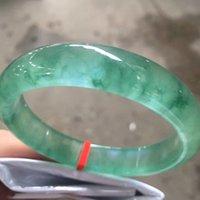 natürliches jade armband armband großhandel-Nur eine! 56.7 MMCertified (Grade A) 100% natürliche grüne Jadeit JADE Bracelet Women Bangle