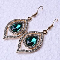 Wholesale hand carved plate resale online - Gold plated Hand Carved X0 quot Natural Green Ruby CZ Earrings ED016 All Right To Send Gifts Or For Yourself