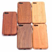 ahşap poşetler toptan satış-100% Doğal Yeşil Gerçek Ahşap Ahşap Bambu Kılıf Iphone Xs Max Xr X 8 7 6 6 s Artı 5 5 s Se Durumda Kapak Telefon Kabuk Cilt Çanta T190702