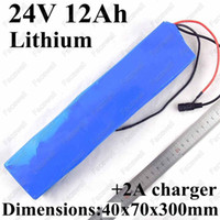 Wholesale 24v lithium battery charger resale online - GTK v ah lithium ion battery electric bike batteries pack v ah for w elecritc wheelchair motor e bike A charger