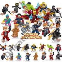capitão estrela venda por atacado-Blocos Marvel Vingadores blocos de construção Caixa de Cor Thanos Capitão Thor Hulk Homem De Ferro Homem-Aranha Loki Homem-Formiga-senhor-estrela Groot Figuras Brinquedos