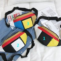 Wholesale hip pouch belt for sale - Group buy New Sport Brand Contrast Color Running Waist Bag Fashion Designer Hip Belt Fanny Pack Women Phone Zipper Pouch Unisex Chest Bag