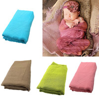 Wholesale cloth towels clothing resale online - Baby Photography Props Towels Newborn Wraps Cloth Infant Photo Outfit Accessories Baby Girl Boy Scarf Shoot Fotografia Clothing