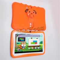 Wholesale 20pcs New Kids Tablet PC inch Quad Core children tablet Android Allwinner A33 Google Player WiFi big Speaker protective Case