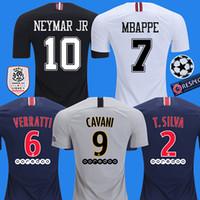 ad9a8e7a861 2018 2019 PSG maillots de foot MBAPPE soccer jersey CAVANI VERRATTI top  thailand 18 19 paris football shirt KIMPEMBE Camiseta de futbol