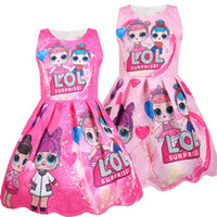 Wholesale lol cosplay online - Summer Colorful Girls Lol Dress Dolls Girl Birthday Party Dresses Clothing baby Halloween Christmas Child Cosplay Costume Kids Clothes