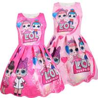 disfraces para muñecas al por mayor-Summer Colorful Girls Lol Vestido Muñecas Niña Cumpleaños Fiesta Vestidos Ropa bebé Halloween Navidad Niño Cosplay Disfraces Ropa para niños