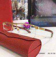 montura de gafas transparente al por mayor-Gafas con montura de lentes transparentes para hombres lentes de diseñador Gafas graduadas Moda estilo de diseño de diamantes Hecho a mano Marca de gafas para mujer