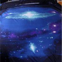 ingrosso biancheria da letto della galassia 3d-Hipster Galaxy 3D Set Biancheria da letto Universo Spazio esterno a tema Galaxy Print Biancheria da letto Copripiumino federa49