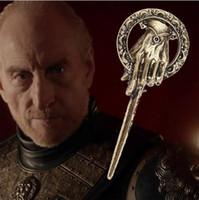 taht iğnesi toptan satış-Yeni Varış Sıcak Satış Buz Şarkı ve Ateş Oyunu thrones El King Pin, Broş Ücretsiz Nakliye