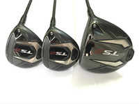 Wholesale golf clubs fairway woods for sale - Group buy TS2 Golf Clubs TS2 Wood Set TS2 Golf Woods Driver Fairway Woods KUROKAGE Graphite Shaft With Head Cover