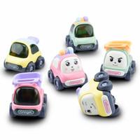 coche de juguete abs al por mayor-Baby Pull Back Car Toys Coche ABS Niños Racing Car Baby Mini Cars Cartoon Pull Back Bus Camión Niños Juguetes para niños Regalos