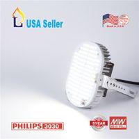réverbère en métal achat en gros de-6pcs / lot led kits de rénovation ampoule SMD3030 100W 120W 150W métal haloïde pack de mur remplacement de lampadaire Shoebox