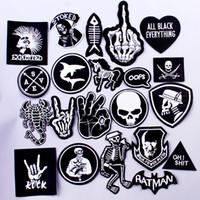 diy punk kıyafetleri toptan satış-Pulaqi Rock Müzik Metal Bantları Yama Giysi Demir On Yamalar Giyim Punk Şerit DIY Işlemeli Rozetler Için Giysi Çıkartmalar