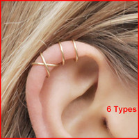 ingrosso orecchini piercing della cartilagine dell'orecchio-Ear cuff No Piercing Earcuff doppio ear cuff e Criss Cross Cartilagine semplice cartilagine orecchino acc025