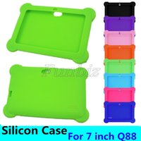 Wholesale dual camera pc tablet case resale online - Colorful Silicon Case Protective Cover For Inch Q88 A33 A23 A13 Q8 Dual Camera Tablet PC Cases MID
