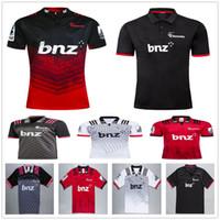 mochilas de rugby vermelho venda por atacado-2019 2020 Nova Zelândia Super Rugby Crusaders Jerseys Casa Fora Vermelho Preto Branco 19 20 Treinamento Da Liga de Rugby T Camisas Tamanho S-XXXL