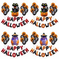 cadılar bayramı kaynakları pumpkins toptan satış-16 inç Cadılar Bayramı Kabak Parti Dekorasyon Balon Sahne Düzeni Mektupları Cadılar Bayramı Balonlar Parti Malzemeleri 4styles RRA2124