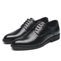 mode versteckte schuhe großhandel-Mode Männer Kleid Schuhe Leder Oxford versteckte ferse Schuhe für Männer 2019 Marke Casual Business Formale Hochzeit Männer Schuhe Lace Up
