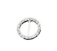 toka kaydırıcıları toptan satış-Fabrika Fiyat DIA 21mm 16mm Bar Temizle Yuvarlak Rhinestone Tokalar Düğün Davetiyesi Için Diamante Şerit Kaydırıcılar