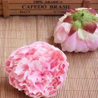 korsaj gerçek çiçek toptan satış-9.5 cm Kafa 12 adet Yapay İpek Şakayık Kafaları Gerçek Dokunmatik Şakayık Gül Düğün Buket Sahte Çiçek Ev Dekorasyon DIY için Bilek Korsaj