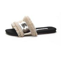 franja plana sandálias mulheres venda por atacado-SAGACE Mulheres Chinelos Flats Fringe Sandals Deslizamento em Sandals Praia Chinelos Ladies New Moda Feminina Casual Estilo Slipper9031413