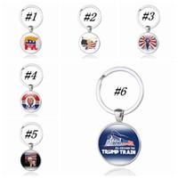 fivelas de bandeira venda por atacado-2020 REELECT Trump Chaveiro Tempo Chaves Gem Cadeia ZZA1753 Flag US Pendant Key Buckle Keychain Fashion Party Favor