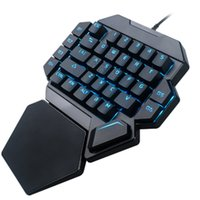 Wholesale keypad keyboard switches for sale - Group buy K50 Rgb Wired Gaming Keypad Keyboard Keys One Handed Blue Switch Led Backlit Mechanical Keyboard