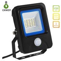 ingrosso luce del sensore di movimento ac-Luce di inondazione calda 10W 20W 30W 50W 100W 150W IP66 Impermeabile 85-265V Sensore di movimento LED Spotlight