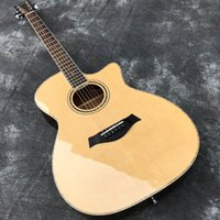 Wholesale acoustic guitar bone nut resale online - In Stock quot Acoustic guitar with Cutaway Solid Spruce top Sapele back sides Gloss Finish Bone Nut High Quality
