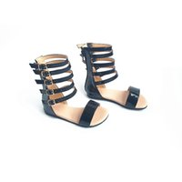 Wholesale babies handmade sandals resale online - Fashion Girls Roman sandals Handmade Baby sandals Kids shoes Princess shoes Non slip Children