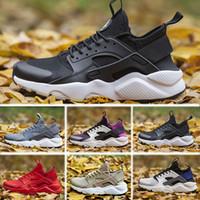 tienda de zapatos en línea al por mayor-Nike Air Huarache al por mayor unisex Huarache 4 zapatos para correr hombres mujeres buena calidad Huarache zapatillas de deporte zapatillas de deporte grandes tamaño 45 US11