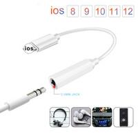 kızılötesi 3.5mm toptan satış-IOS 11 12 Müzik Kulaklık Adaptörü iphone 7 8 X AUX Lightnin Kadın Için 3.5mm Adaptörü Erkek Adaptörleri Jack kablo