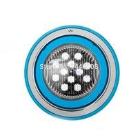 luces marinas bajo el agua al por mayor-3 unids / lote 12 w AC12V RGB IP68 luz de la piscina de montaje en pared bajo el agua luces de la lámpara para estanques al aire libre marino LED Para Piscina