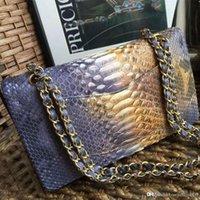 python çanta toptan satış-Yeni en qualith crossbody klasik python cilt deri güderi Moda çanta inek derisi Buzağı hakiki deri bağbozumu erkekler çanta omuz çantaları