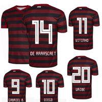 bayım adam toptan satış-2019 Flamengo Futbol Forması 19-20 DIEGO GUERRERO MANCUELLO E. Ribeiro erkek tay Futbol Gömlek futbol forması üniforma e ...