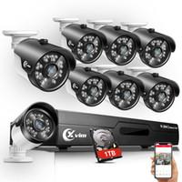 sistema de seguridad dvr 1 tb al por mayor-XVIM 1080P HDMI 5in1 HD-TVI 8CH DVR 720P Sistema de cámara de seguridad CCTV para exteriores 1TB