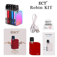 Wholesale electronics cigarettes liquid resale online - Original ECT Robin Pod Kit Electronic Cigarette VV Box Mod Battery With ml Cartridge Portable Vape Pen For e Liquid Thick Oil