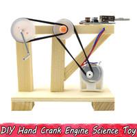 brinquedos físicos venda por atacado-Hank manivela de madeira dynamo experimento físico science toys para crianças adolescentes diy modelo de montagem kits educacional toys presentes criativos