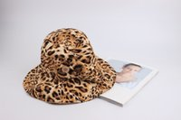 Wholesale plain fitted dresses resale online - Bucket Hat Leopard Print Ladies Cap Fishing Hat Women Cloche Hat Outldoor Sun Hats for sale Summer Hats for women Ladies Dress Hats